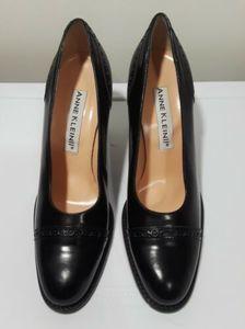Anne Klein II Leather Block Oxford Heels  Size 10